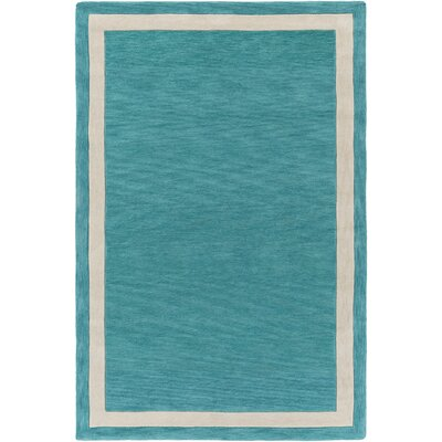 Goshen Hand Tufted Aqua/Ivory Area Rug Rug Size: Rectangle 2 x 3
