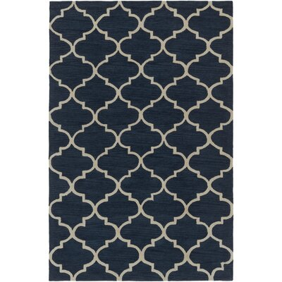 Goshen Hand Tufted Navy/Ivory Area Rug Rug Size: Rectangle 33 x 53