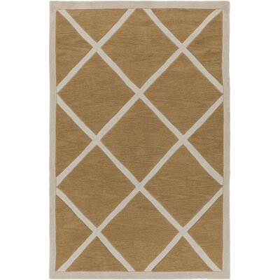 Goshen Hand Tufted Taupe/Beige Area Rug Rug Size: Rectangle 33 x 53