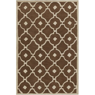 Claytor Hand Tufted Camel/Beige Area Rug Rug Size: Rectangle 33 x 53
