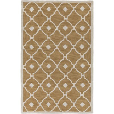 Claytor Hand Tufted Taupe/Ivory Area Rug Rug Size: Rectangle 33 x 53
