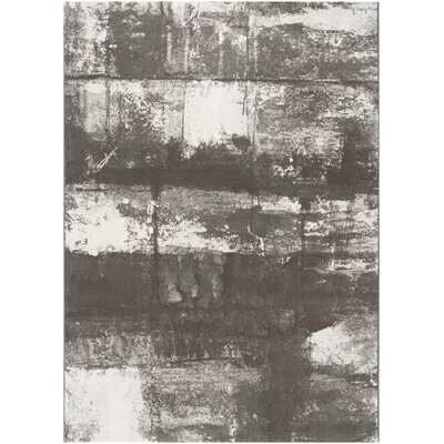 Chamlee Dark Brown/White Area Rug Rug Size: Rectangle 92 x 129