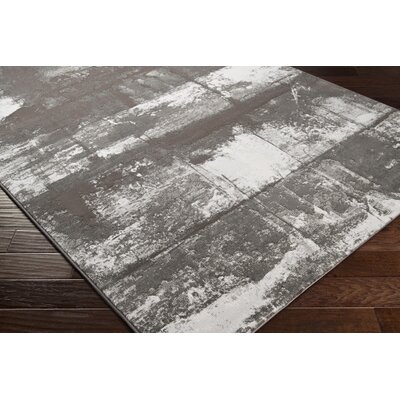 Chamlee Dark Brown/White Area Rug Rug Size: Runner 27 x 71