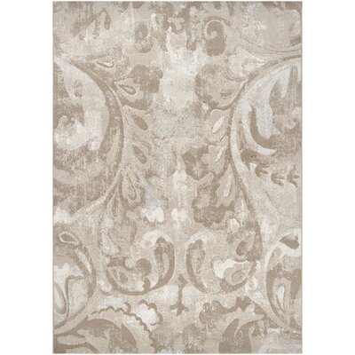 Pickrell Distressed White/Cream Area Rug Rug Size: Rectangle 92 x 129