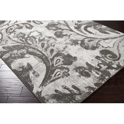 Pickrell Distressed Dark Brown/White Area Rug Rug Size: Runner 27 x 71
