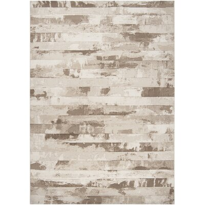 Chamlee White/Cream Area Rug Rug Size: Rectangle 92 x 129