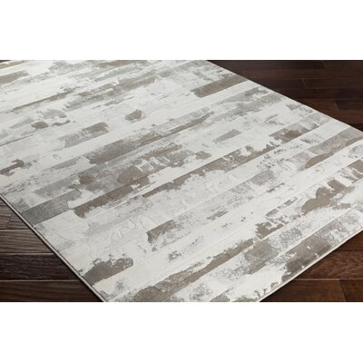 Chamlee Dark Brown/White Area Rug Rug Size: Runner 2 x 68