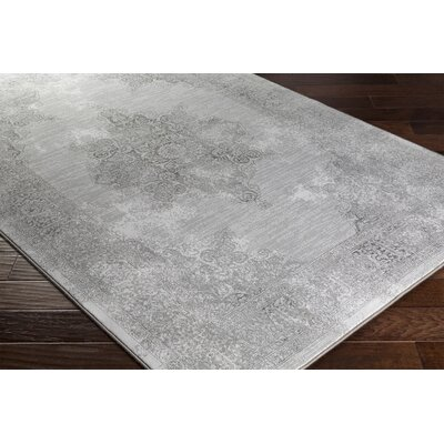 Pickrell Distressed Gray Area Rug Rug Size: Runner 27 x 71