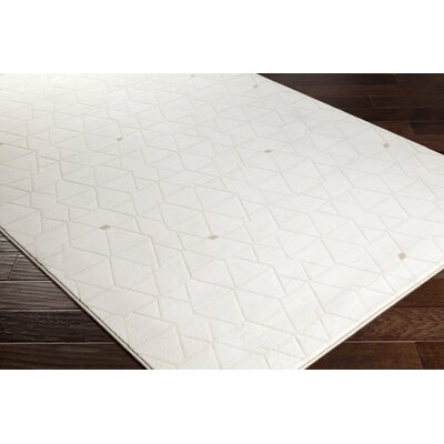 Clearman Modern White/Dark Brown Area Rug Rug Size: Runner 27 x 71