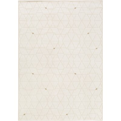 Clearman Modern White/Dark Brown Area Rug Rug Size: Rectangle 92 x 129