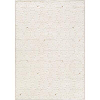 Clearman Modern White/Dark Brown Area Rug Rug Size: Rectangle 92 x 129