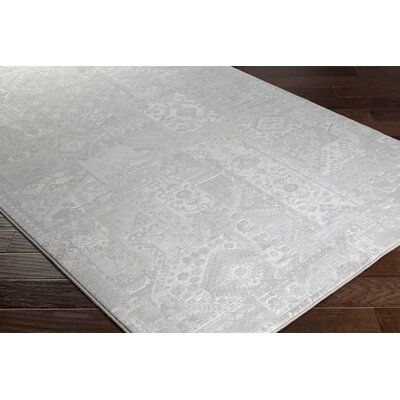 Pickrell Light Gray/White Area Rug Rug Size: Runner 27 x 71