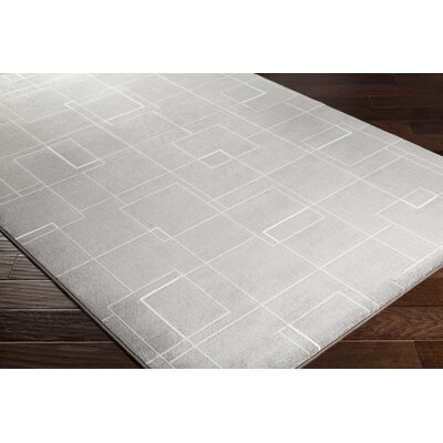 Chacon Modern Medium Gray/Light Gray Area Rug Rug Size: Runner 27 x 71