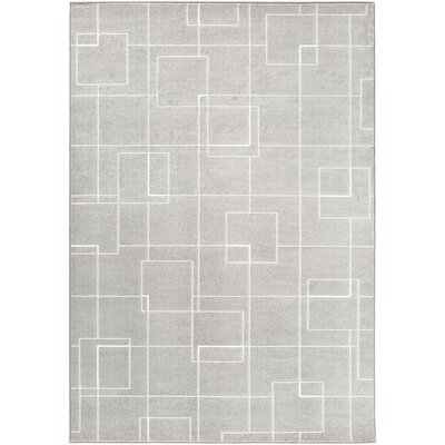 Chacon Modern Medium Gray/Light Gray Area Rug Rug Size: Rectangle 92 x 129