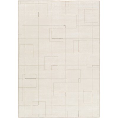 Chacon Modern White/Cream Area Rug Rug Size: Rectangle 92 x 129