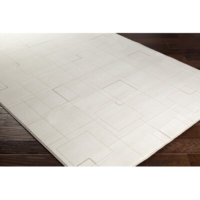 Chacon Modern White/Cream Area Rug Rug Size: Runner 27 x 71