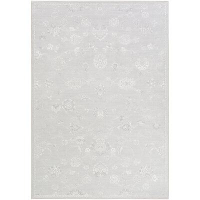 Pickrell Distressed Light Gray/White Area Rug Rug Size: Rectangle 92 x 129