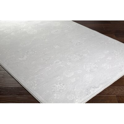 Pickrell Distressed Light Gray/White Area Rug Rug Size: Runner 27 x 71