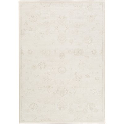 Pickrell Distressed Cream/White Area Rug Rug Size: Rectangle 92 x 129