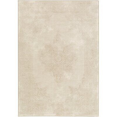 Pickrell Distressed Camel/Cream Area Rug Rug Size: Rectangle 92 x 129