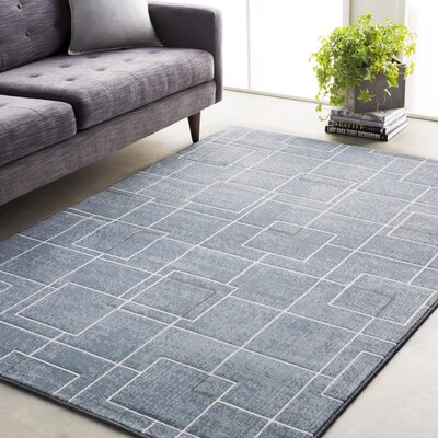 Chacon Modern Pale Blue/Denim Area Rug Rug Size: Rectangle 92 x 129