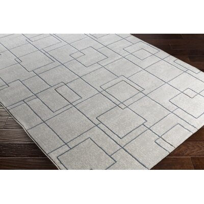 Chacon Modern White/Light Gray Area Rug Rug Size: Runner 27 x 71