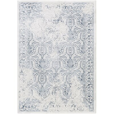 Pickrell Distressed White/Light Gray Area Rug Rug Size: Rectangle 92 x 129