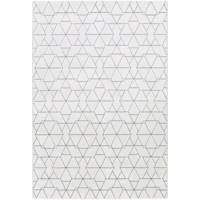 Cuthbert Modern White/Light Gray Area Rug Rug Size: Rectangle 92 x 129