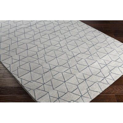 Cuthbert Modern White/Light Gray Area Rug Rug Size: Runner 27 x 71