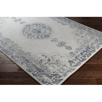 Pickrell Distressed Navy/Camel Area Rug Rug Size: Runner 27 x 71