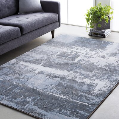 Chamlee Denim/Gray Area Rug Rug Size: Rectangle 92 x 129