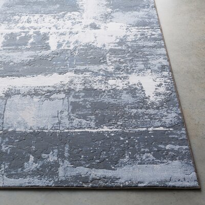 Chamlee Denim/Gray Area Rug Rug Size: Runner 27 x 71