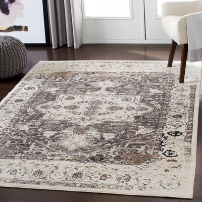 Brownell Distressed Light Brown/Orange Area Rug Rug Size: Rectangle 710 x 1010