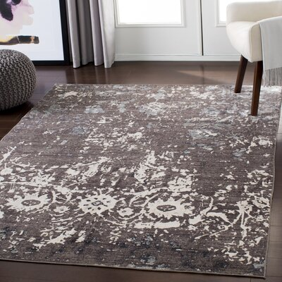 Stephan Distressed Light Brown/Ivory Area Rug Rug Size: Rectangle 53 x 76