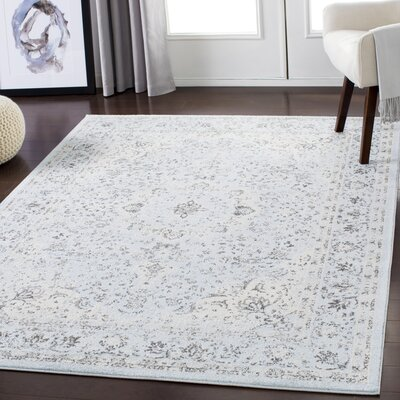 Maleisha Blue/Tan Area Rug Rug Size: Rectangle 2 x 3