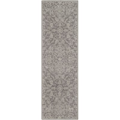 Puttney Hand Hooked Wool Medium Gray/Light Gray Area Rug