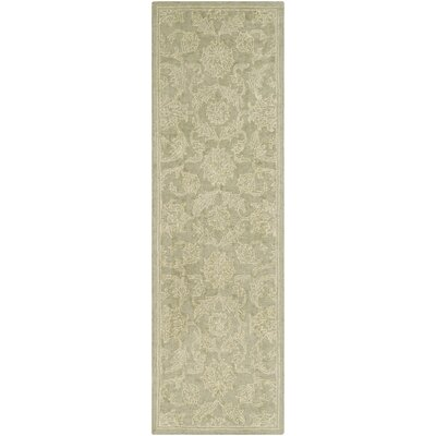 Puttney Hand Hooked Wool Sage/Ivory Area Rug