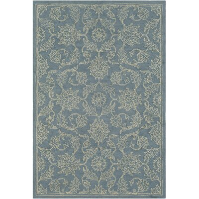 Puttney Hand Hooked Wool Denim/Khaki Area Rug Rug Size: Rectangle 5 x 76