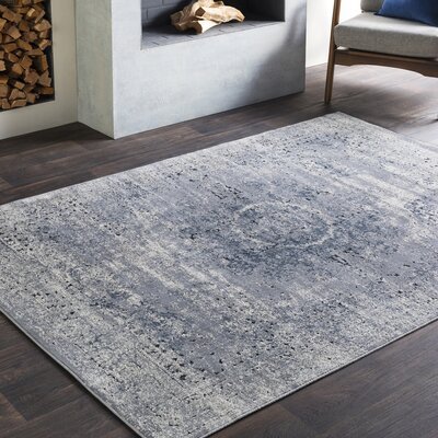 Pickney Distressed Gray/Khaki Area Rug