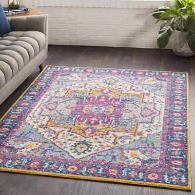 Almonte Pink/Yellow Area Rug Rug Size: Rectangle 710 x 103
