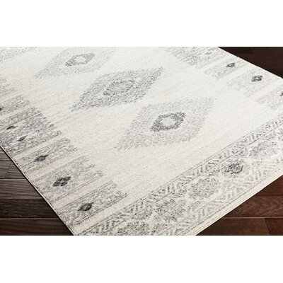 Morales Bohemian Charcoal/Ivory Area Rug Rug Size: Runner 27 x 76