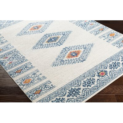Morales Bohemian Navy/Ivory Area Rug Rug Size: Runner 27 x 76