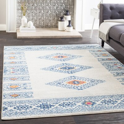 Morales Bohemian Navy/Ivory Area Rug Rug Size: Rectangle 2 x 3
