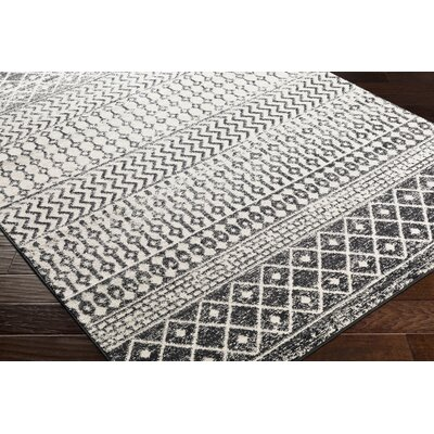 Kreutzer Bohemian Charcoal/Ivory Area Rug Rug Size: Runner 27 x 76