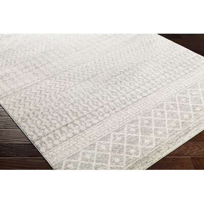 Kreutzer Distressed Beige/Light Gray Area Rug Rug Size: Runner 27 x 76