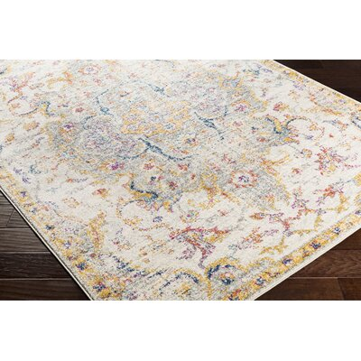 Almonte Distressed Saffron/Light Gray Area Rug Rug Size: Runner 27 x 76