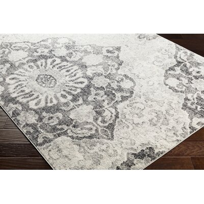 Drennen Distressed Charcoal/Light Gray Area Rug Rug Size: Runner 27 x 76