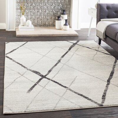 Kreutzer Distressed Charcoal/Light Gray Area Rug Rug Size: Rectangle 53 x 76