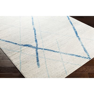 Kreutzer Distressed Navy/Light Blue Area Rug Rug Size: Runner 27 x 76