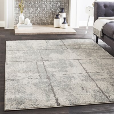 Cateline Distressed Light Gray/Taupe Area Rug Rug Size: Rectangle 710 x 103